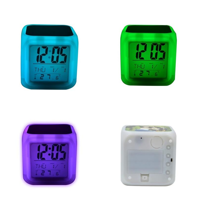 LED المنبه مربع التسامي الفراغات الملونة توهج الالكترونيات نوم الجدول تذكير ساعة الأطفال المنزل جودة عالية 13 5ex m2