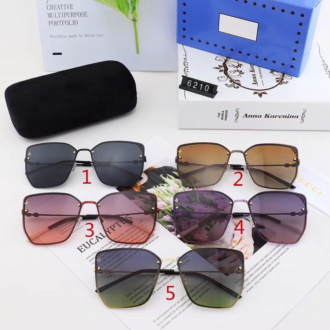 خمسة ألوان القط العين النظارات أزياء الرجال والنساء مصممي الفم الصوت الاستقطاب القيادة نظارات الشمس جودة عالية 6210