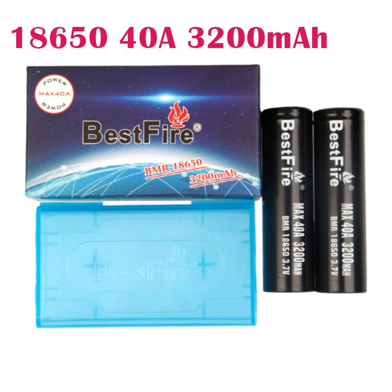 Authentic BESTFIRE 3200MAH 40A 18650 Battery Black Color Rechargeable Lithium Vape Battery Max Discharge 40A