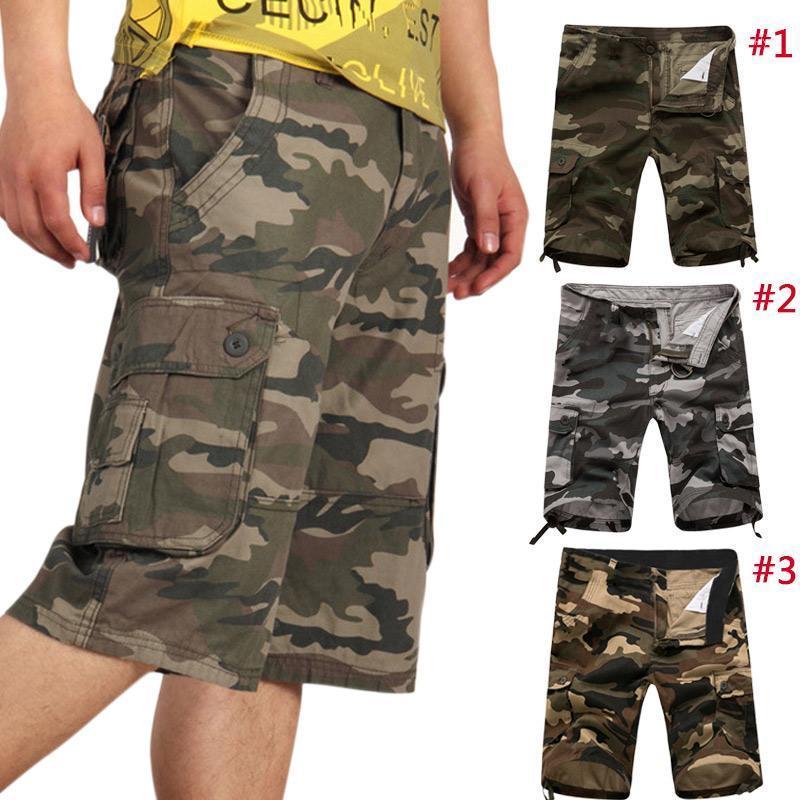 Новые моды летние мужчины шорты груза камуфляж повседневные мешковатые тактические армии камуфляж короткие брюки брюки vk-ing1