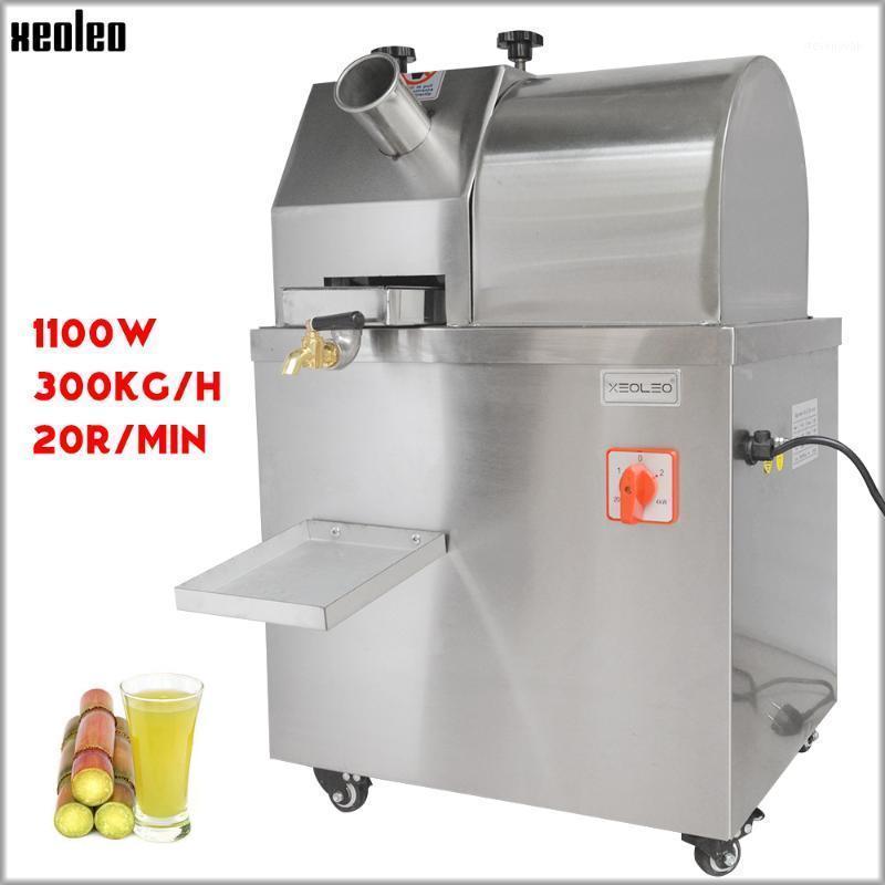Xeoleo Sugar Cane Juicer Suguet commercial Canne Machine de presse Machine à jus d'acier inoxydable de 300kg / h 220V1