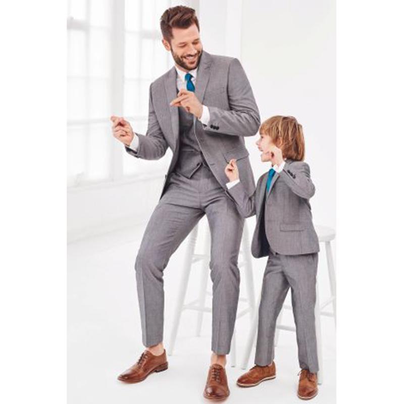 Son Coat Pantolon Gri Biçimsel Erkekler Suit Damat Evlilik Smokin Balo İyi Adam Ceket Basit Özel 3 Piece Terno takım elbise mens Tasarımları