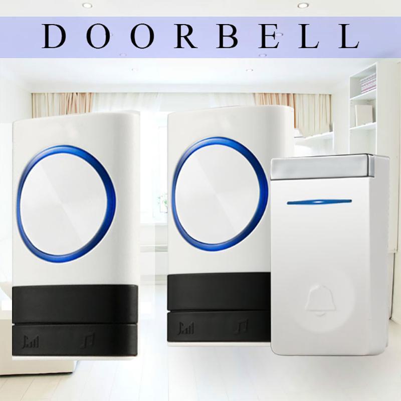 Doorbells Soirée sans fil Soirée auto-génération Home Smart Electronic Télécommande longue distance Pas besoin de la batterie sans fil