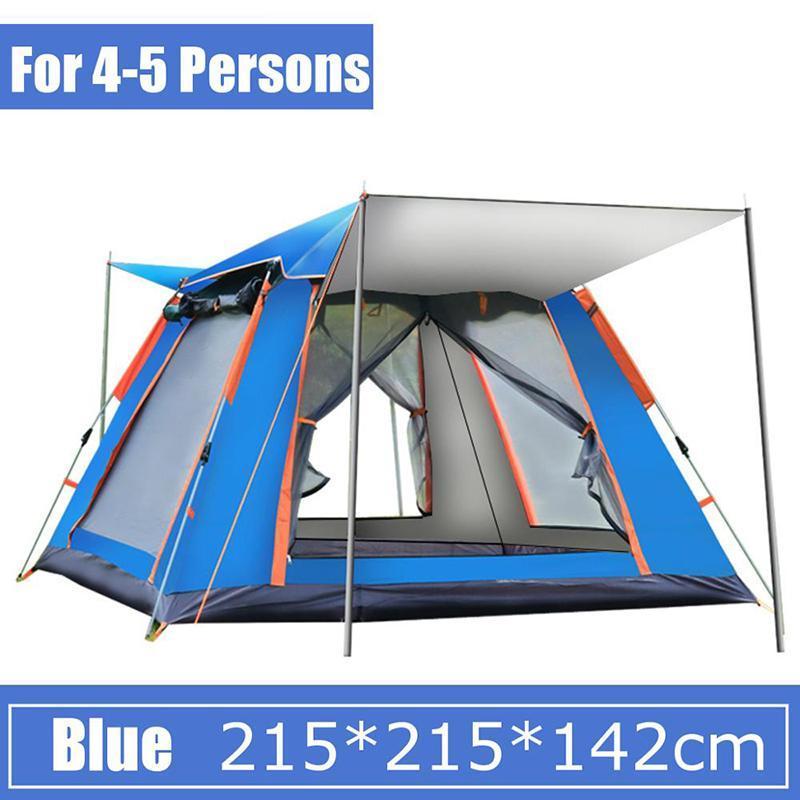 Tragbare vollautomatische Auto Up Outdoor Camping Zelt Doppelschicht Wasserdichte Lager Zelte Regenschutz Schatten 3-4 Person