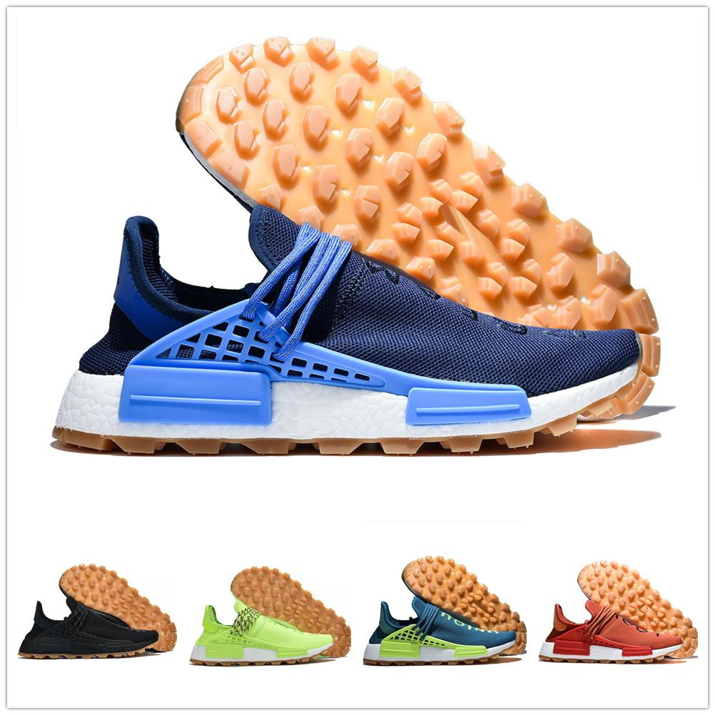 2020 Pharrell Williams Hu razza umana scarpa da corsa x hu in formazione sneakers ulteriori yakuda Best Sport Donne Choclate Local Online Store Extr