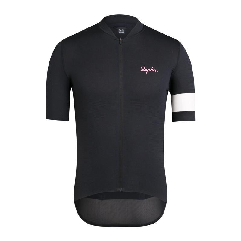 2021 Ciclismo de verano Jersey Mens Rapha Equipo Seco rápido Camisa de manga corta Camiseta de carreras Tops de bicicletas Uniforme al aire libre Ropa deportiva Y21041006