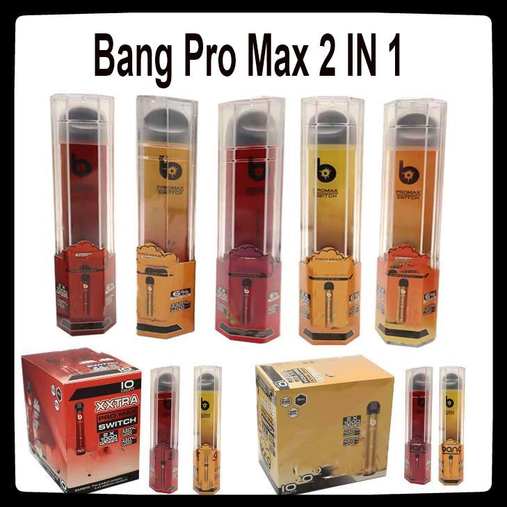 Bang XXL Pro Max 2000 Puffs Disposable Device 2 in 1 Kit Vape 6ml Pods 1100mAh Battery XXtra Double Pen Ezzy
