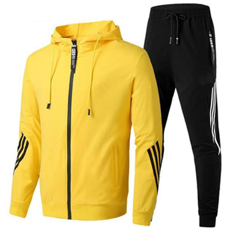 2020 Herfst Winter Plus Tamaño 6XL Hombres Vestidos Traje de entrenamiento con capucha Jogger Running Pak Outdoor Wear Fitness 2 Stuk Sport Set
