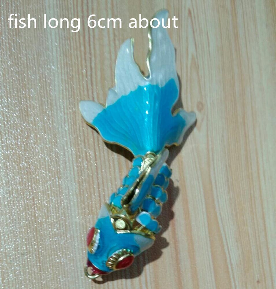 5pcs 6cm Handcrafted Smalto Vivid Sway Goldfish Charms Charms Gioielli Fare fai da te Collana Bracciale Articoli Orecchini Keychain Accessori Pesce Gioielli Pendente