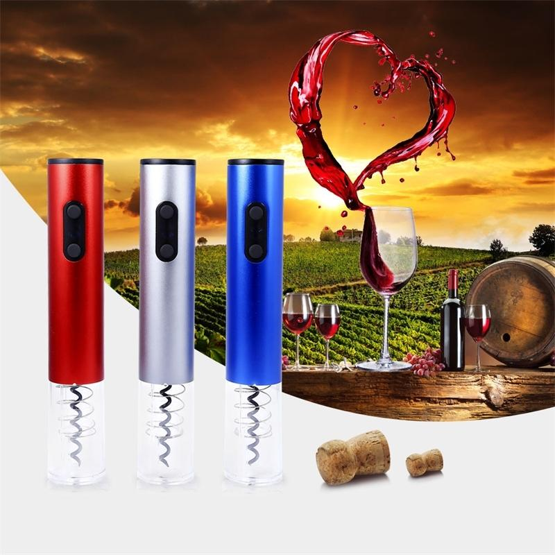 Wine Opener Electric Automatic Wine Bottle Opener Can Opener Electric Corkscrew With Foil Cutter And Vacuum Stopper Y200405