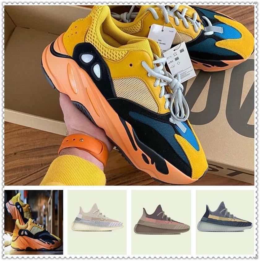 Chaussures de sport pour femmes 2021 Kanye West Sun Yecoraite ELIADA CENDA-Pierre Lumière réfléchie Casual Casual Baskets de plein air Taille 36-48