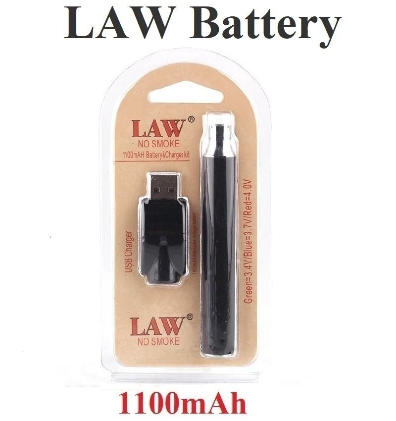 Law Preheating VV Battery 1100mah Vape Pen Blister Kits O Pen Bud Touch Variable Voltage 510 thread Battery With USB Charger