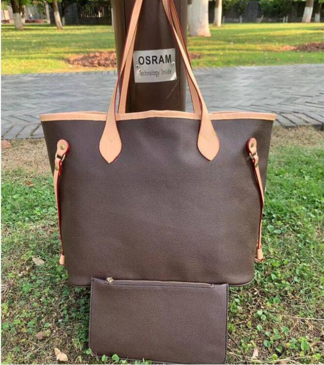 أعلى جودة 2 قطعة / المجموعة مركبة التسوق حقائب اليد حقائب تحمل أكياس مخلب حمل حقائب جلدية حقيبة الكتف N40995 M020617
