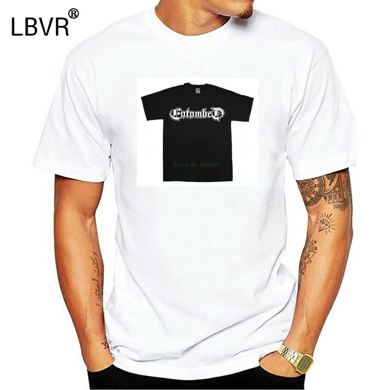 Entombed Yeni Siyah T-Shirt S-5XL Ölüm Metal Tee Gömlek Dismember Benediction Tişört Erkekler 2020 Klasik Moda T Gömlek X1214 Tops