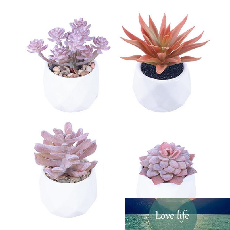Yapay Succulentpottesucculents Mor Asılı Ev Dekorasyonu 4 Adet