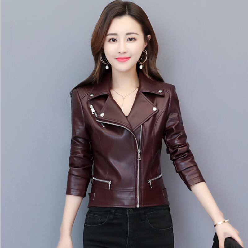 Giacca in pelle da moto da donna Plus Size 3XL 2020 Giacche di moda Capispalla