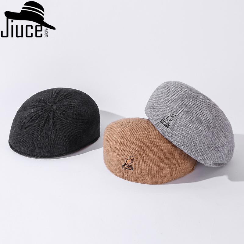Wind Web Celebrity mit tierischen Stickerei Baumwolle Seil nach vorne stilvoller Hut Barett Neue Wintermode Joker Entenzunge