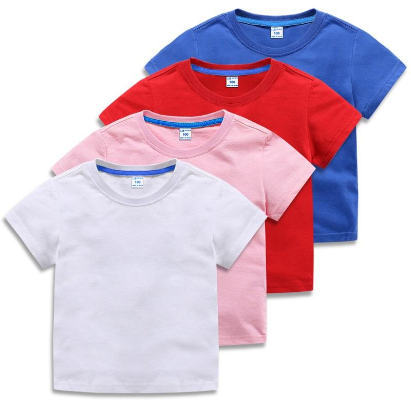 Toptan Özel Logo Unisex Baskılı Saf Pamuk Düz Boş Çocuk Süblimasyon Tişörtleri Erkek Tişörtleri