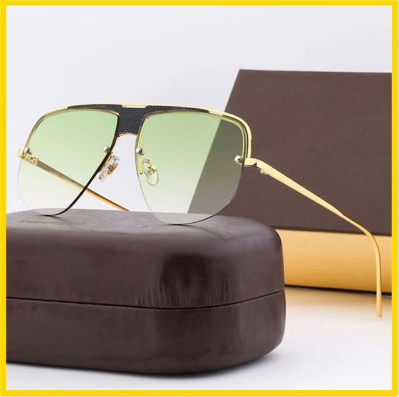 Moda Yarım Çerçeve Erkekler Ve Kadınlar Aynı Gözlüklü Tasarımcı Güneş Gözlüğü Lazer Logo Rosie Güneş Gözlüğü Için Lazer Logo Reçine Lens Gözlük