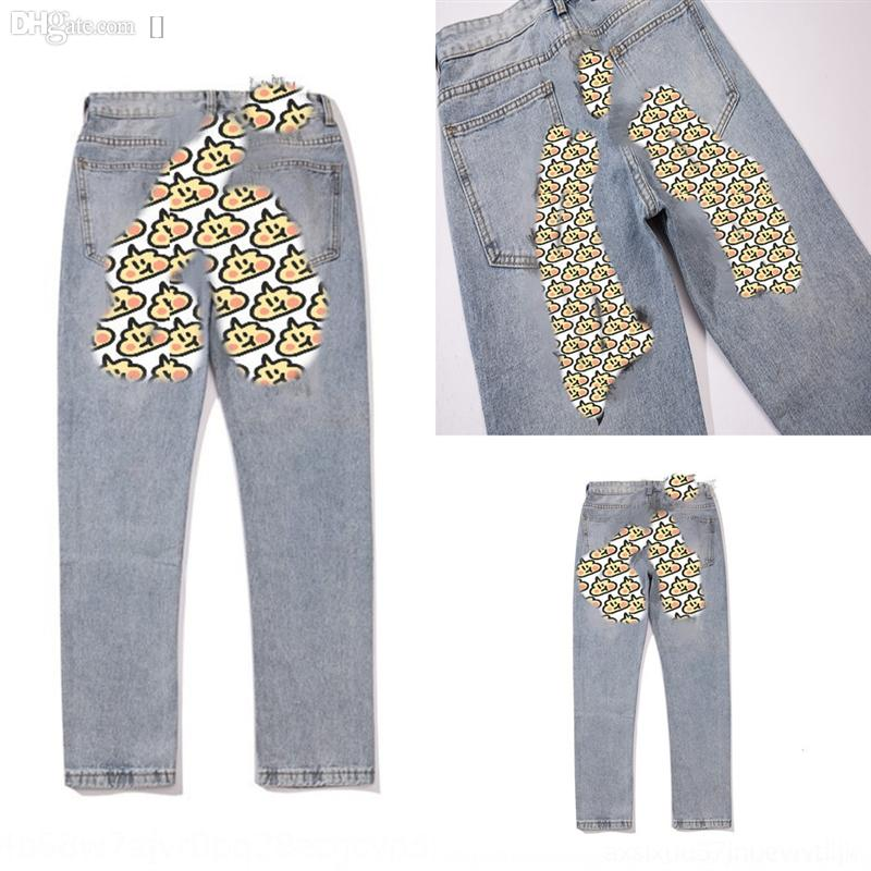 39uH8 Fashion letter justin kanye Spring new Jeans Trouser Jeans pearl lace Kids Denim hole Leggings Jeans Girls Girls kids designer clothes