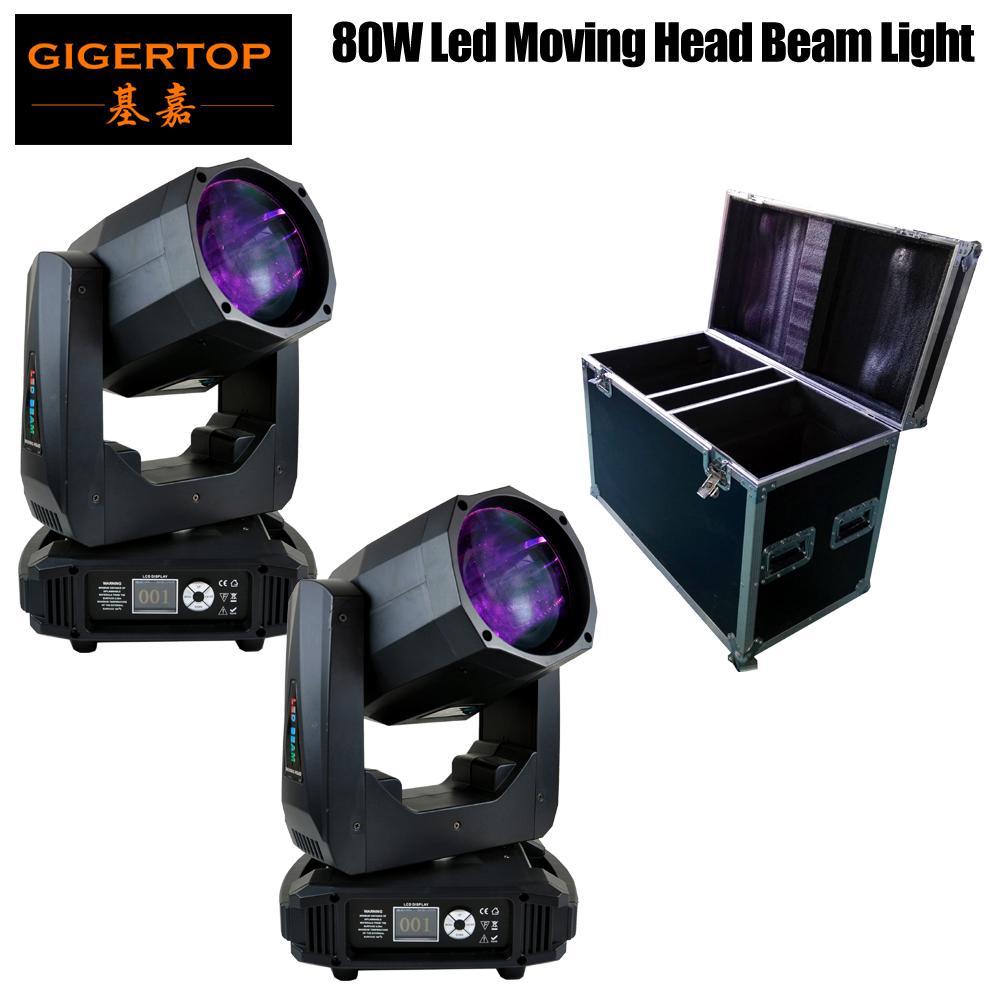 2 pieces with flightcase super beam moving head led lyre beam 80w mini moving head light