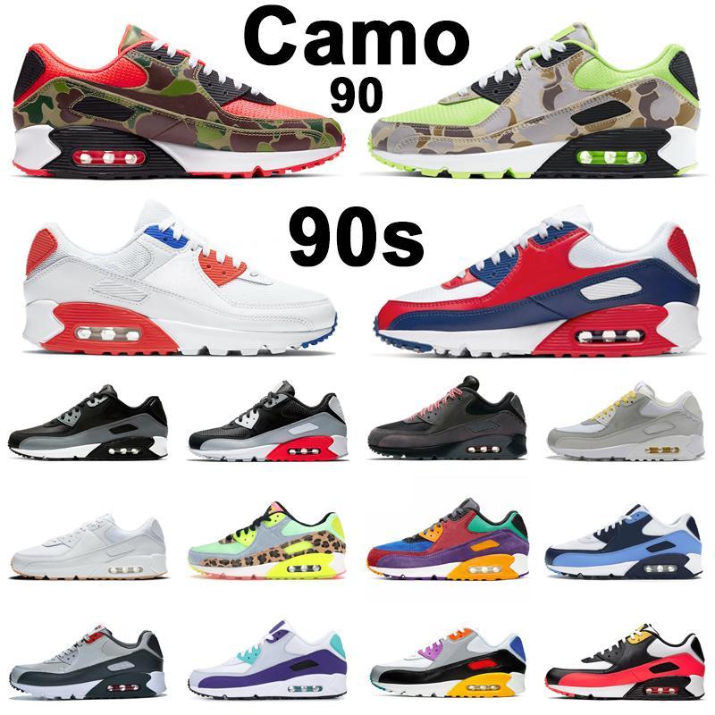 max 90 90s zapatos para correr Hombres Mujeres Chaussures Camo Verde Naranja Mixtape Blanco Negro Infrarrojos USA Bred Zapatillas deportivas para hombre Zapatillas deportivas