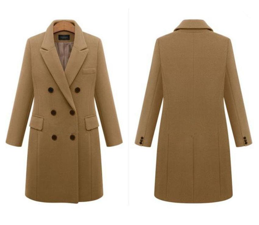 2020 Kürk Bayan Karışımları Palto Kış Sonbahar Uzun Kollu Yaka Boyun Kalın Bayanlar Dış Giyim Casual Uzun Kadın Coats