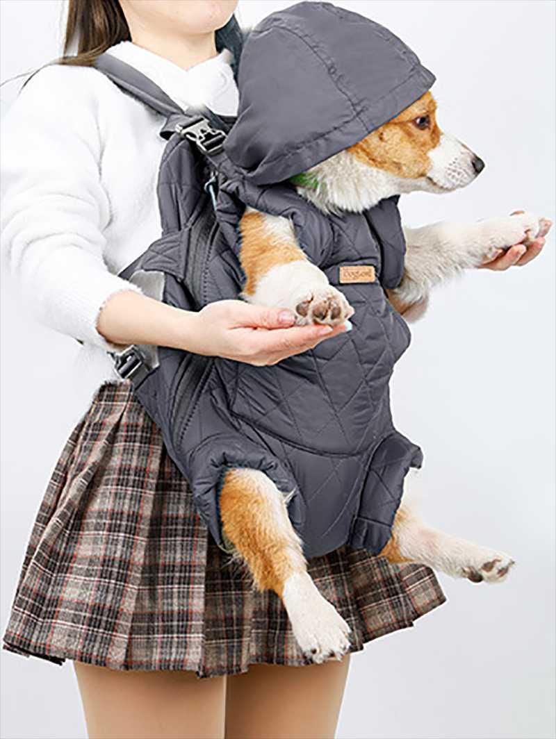 Inverno ispessimento dell'animale domestico Uscire lo zaino portatile Zaino del petto liberare le mani BAG CANDA CANDA PIOGGIA BAG1
