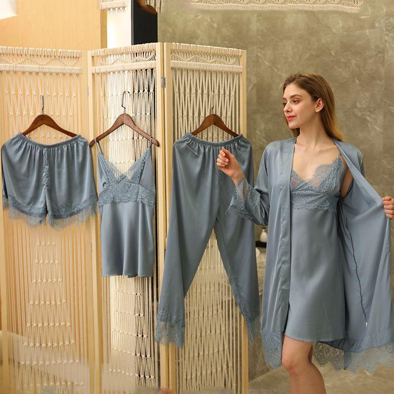Lisacmvpnnnnnnnnnnnnnnnnnnnnnnnnnel pijama feminino fêmea gelo sling nightdress sexy lace pad pijama