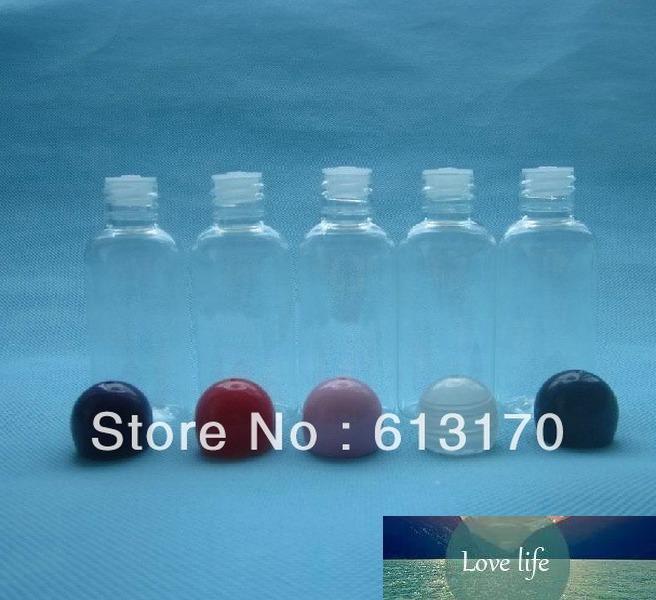 40ml PET Lotion Flaschen Kunststoff leer Probenflasche Sphärische Kappe Reise Nachfüllbarer kosmetischer Verpackungsbehälter Freies Verschiffen