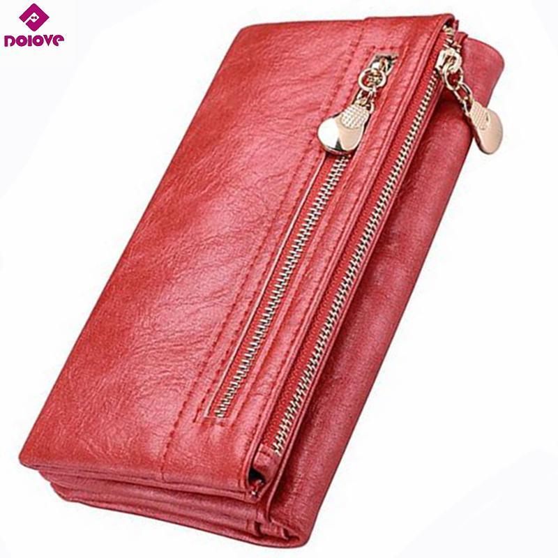 Dolove brandneue design frauen brieftasche lange hochwertige weibliche kupplung reißverschluss brieftaschen große kapazität geldbörse handy tasche tasche
