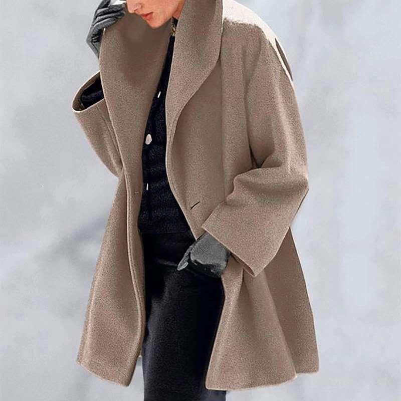 2020 Collier élevé de châle multicolore lâche chaud pour usure féminine Manteau de laine d'automne et d'hiver