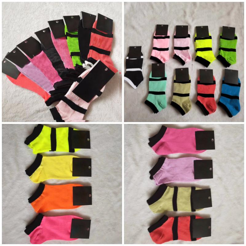 Mix Black Pink Colors Calze per caviglia Sport Controllare le ragazze Donne Cotton Sport Socks Skateboard Sneaker 10 paia