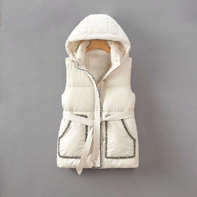 Cthink hiver 2021 nouvelles poches sans manches parka gilets pour femmes de bonne qualité chaud slim coréen style blouse à capuche manteau femme
