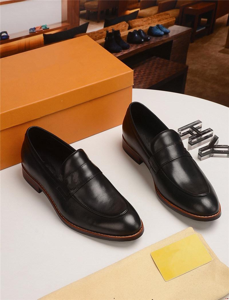 2021 Hommes Crocodiles Cuir Cuir Italien Formel Robe Chaussures Bureau Chaussures Luxe Marques Tassels Chaussures Platfornes Chaussures Oxford Chaussures pour hommes Yecq1