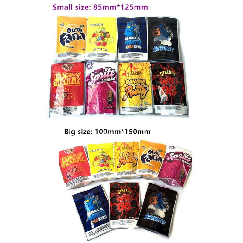 3.5g Bag Runtz Lucky Sacos Sherbmoney Sujo Ouchie Lato Lato Piada Up Synergy WiFi Og Embalagem DHL GRÁTIS