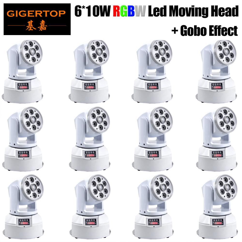 10xlot novo 100W gobo led liderar luz de cabeça com display lcd dmx controlador 13/18 canal
