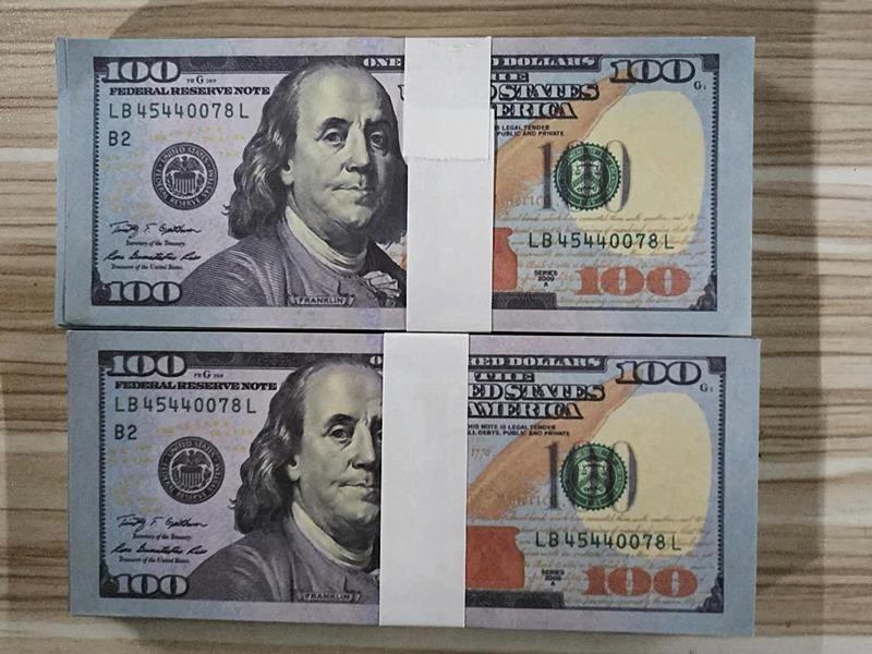 Hot 100 Dollars Movie Prop Banconota Faux Billet Giocattoli Valuta Party Falso Soldi Dei Bambini Gift Gift Gioco Adulto Gioco Biglietto del dollaro Spedizione gratuita