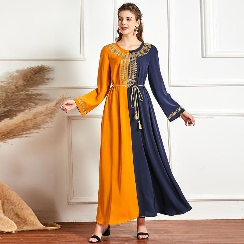 Artı Boyutu Abaya Dubai Türkiye Müslüman Başörtüsü Elbise Kadınlar Için İslam Giyim Maxi Elbiseler Robe Musulman de Mode Femme Ropa Mujer1