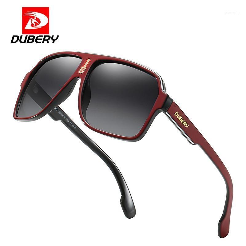 Óculos de sol Dubery vintage polarizou óculos de sol homens para homens dirigindo quadrado preto espelho masculino oculos UV4001