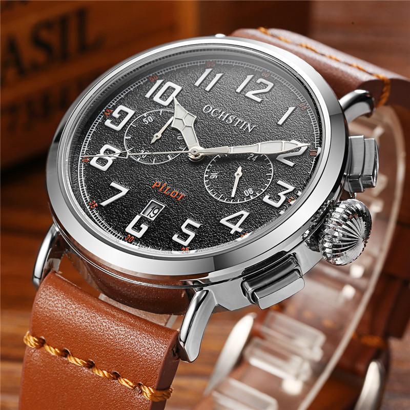 2020 OCHSTIN Marke Hours Männer Luxusuhr-Uhr-Mann-Quarz-Sport-Datum Uhr-Mann-beiläufige