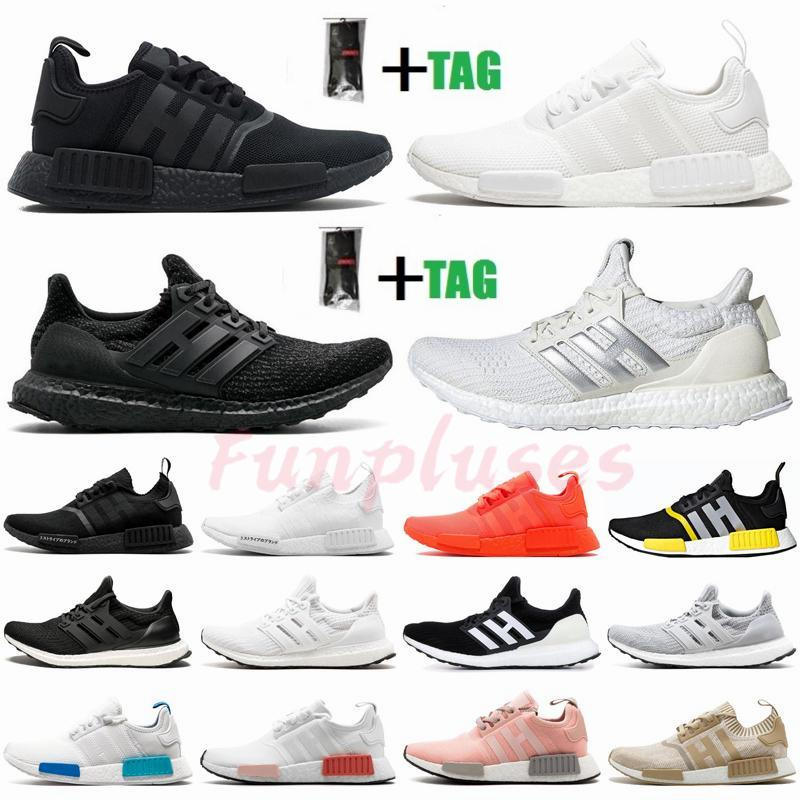 NMD R1 Ultra Boost 3.0 4.0 Luxurys Designers Womens Shoes Ultraboost 19 20 Mens Trainers Triple Black White Running Shoes Sneakers