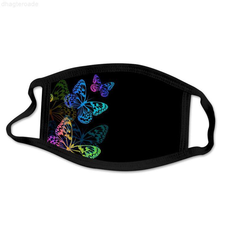 Bisiklet güneş kremi yüz moda yaz kelebek nefes toz geçirmez kişilik baskı maskesi tasarımcı maskeleri stokta!