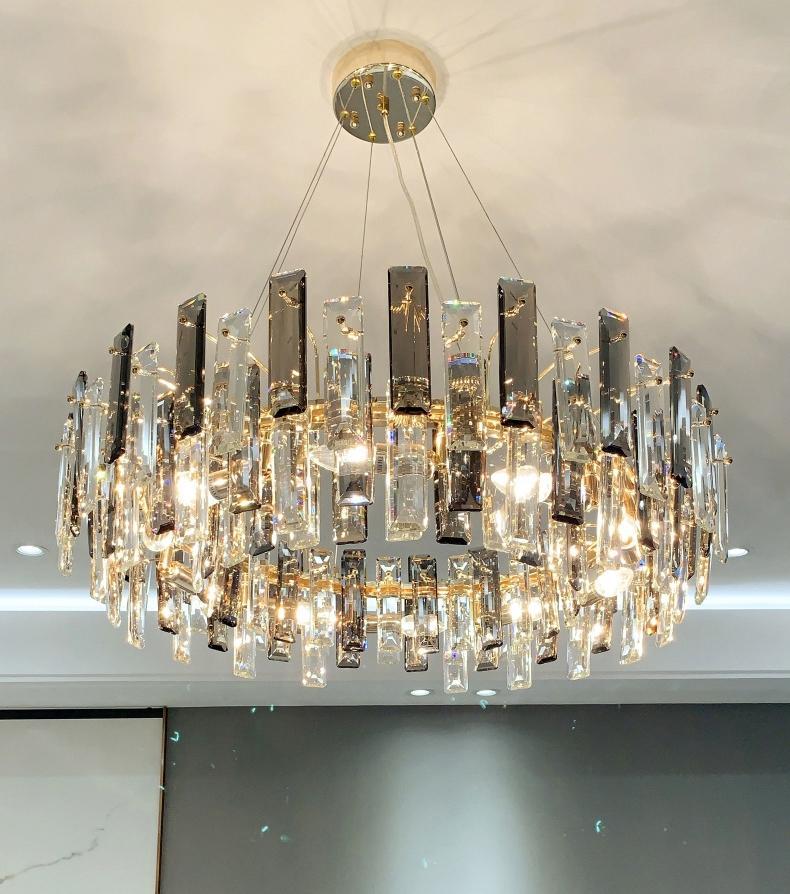 Lampadario di cristallo di lusso leggero moderno minimalista soggiorno luci a sospensione sala da pranzo lampadario lampadario creativo lampade da design