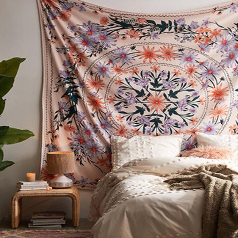 Многоцелевой напечатанный гобелен богемный стиль пляжное полотенце художественные скатерть фон ткань диван крышка ткань1