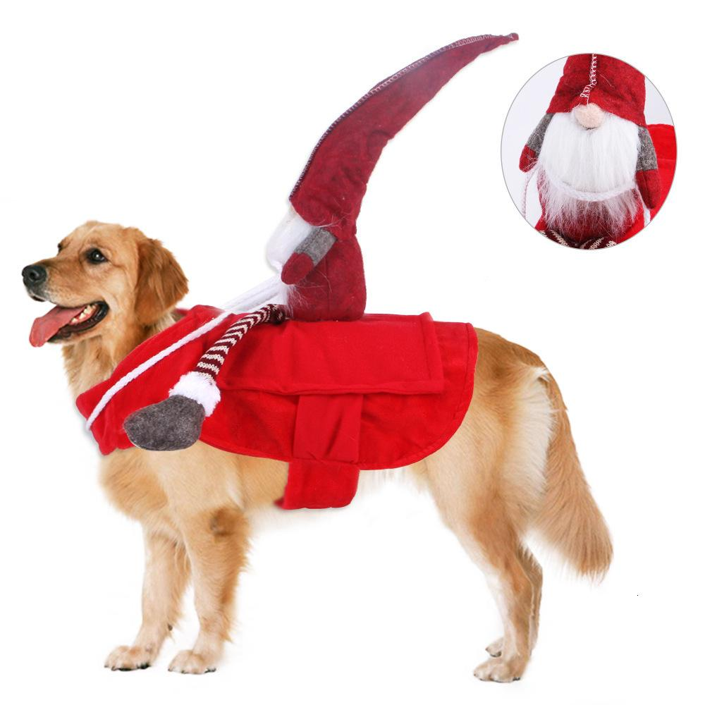 Hot Selling Christmas Horse Riding Changing Into Pet Goods Clothing Cospaly Dog Clothes