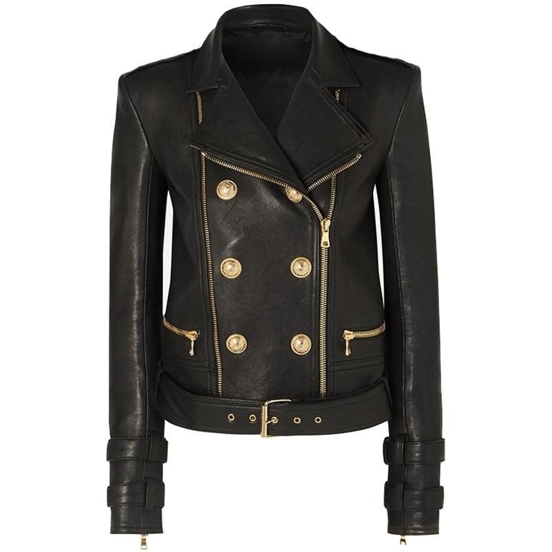 Alta qualidade mais recente designer jaqueta feminina leão feminino jaqueta de couro jaqueta motocicleta jaqueta de motocicleta 201224