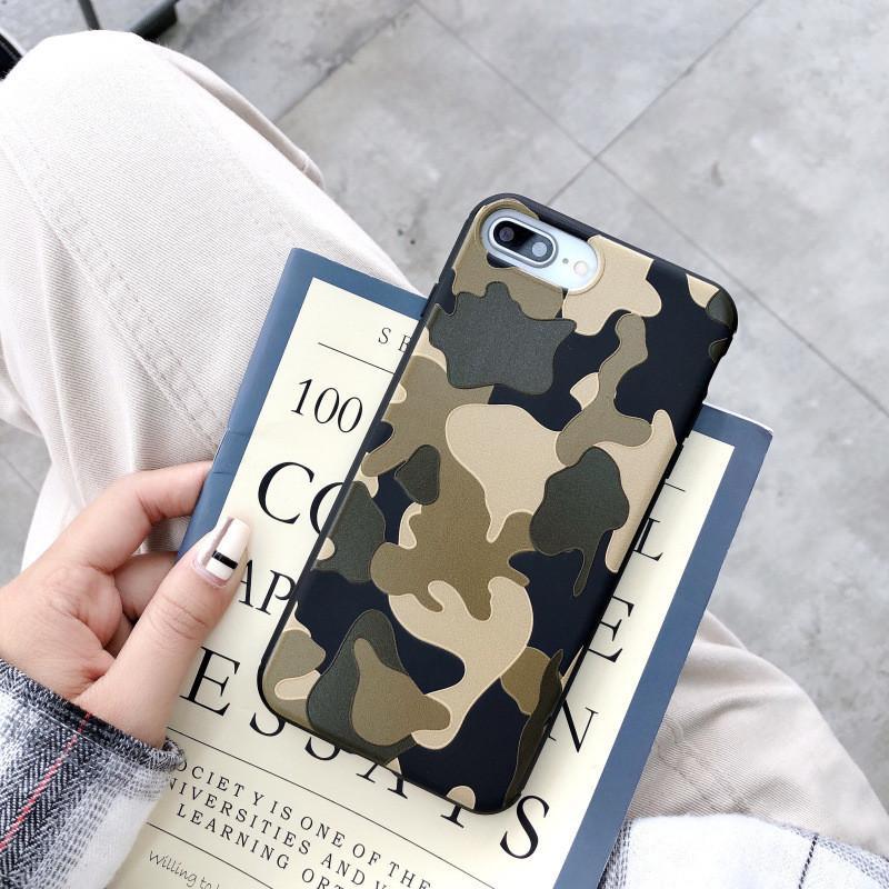 Army Camo Camouflage Telefono Custodie per iPhone 12 Mini Pro Max 11 Pro X XS Max XR 8 7 6S Plus Fashion Army Green Silicone Soft TPU Cover Caso