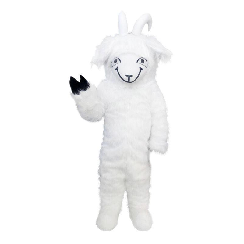 Ziege Schafe langes Haar Maskottchen Kostüme Cartoon-Figur Erwachsene SZ 100% echtes Bild223