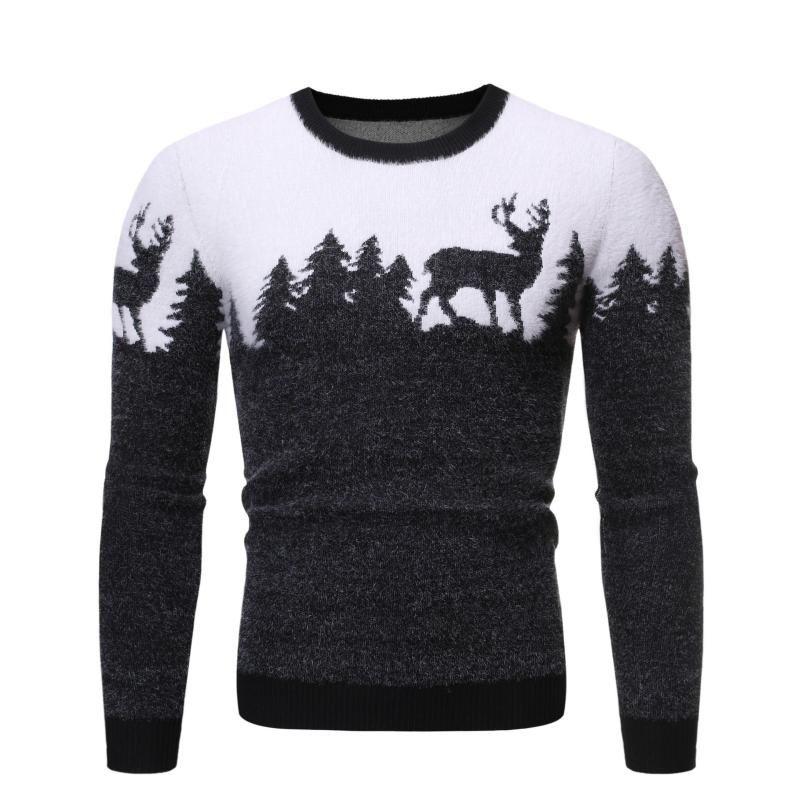Suéter Pullover Hombre Casual Punto de punto Suéter Pullover para Hombres